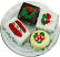 Mini Christmas Fakey Cakes 4 pack Petit Fours top