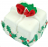 Mini Christmas Fakey Cakes Rose