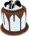 """Cookie and Cream Tall Fake Cake 9"""" B"""