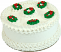 "9"" Christmas Wreath Fake Cake"