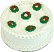 "9"" Christmas Wreath Fake Cake Top"
