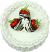 Strawberry Coconut Fake Cake 9 inch top