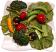Salad Plate Fake Food top