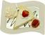 Vanilla Cake and Strawberry Fake Dessert Plate top