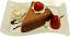 Chocolate Cake and Strawberry Fake Dessert Plate