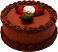 Chocolate Strawberry Decorative Fake Cake 9 inch