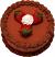 Chocolate Strawberry Decorative Fake Cake 9 inch top