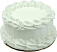 White Plain Fake Cake 6 inch Blank
