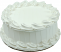White Plain Fake Cake 9 inch Blank