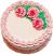 Pale Pink Rose Blank Fake Cake USA top