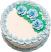 Pale Blue Rose Blank Fake Cake USA top