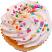 Coconut Fake Cupcake USA top