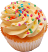 Fake Yellow Sprinkle Cupcake