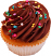 Chocolate Sprinkle Fake Cupcake