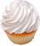 Fake White Plain Cupcake