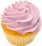 Fake Lavender Plain Cupcake