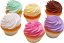 Fake Cupcakes 6 Pack PLAIN Assortment