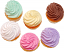 Fake Cupcakes 6 Pack PLAIN Assortment top