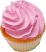 Fake Pink Plain Cupcake