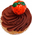 Chocolate Halloween Fake Cupcake top