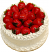 Strawberry Top Vanilla Fake Cake 9 inch
