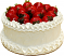 Strawberry Top Vanilla Fake Cake 9 inch Side