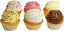 Fake Cupcakes 6 Pack Assortment SIDE