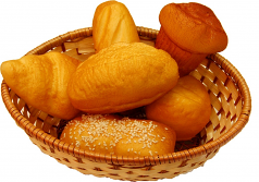 Bread Basket 6 piece fake bread USA