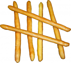 Bread Sticks 6 piece soft touch fake bread USA