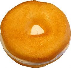 Cream Cheese Fake Food Soft Touch Bagel Plain USA