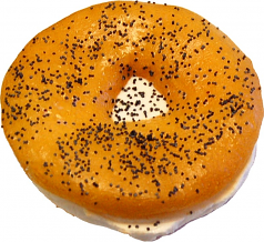 Cream Cheese Fake Food Soft Touch Bagel with Poppy Seed U.S.A.