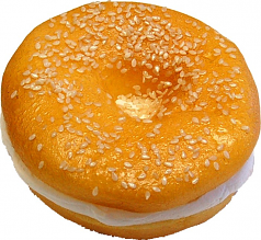 Cream Cheese Fake Food Soft Touch Bagel with Sesame Seed U.S.A.