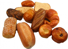 Bread Rolls 12 pack Assorted fake bread USA