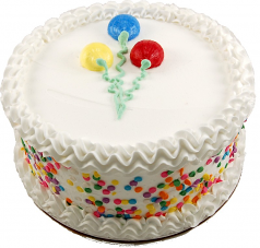"Celebration White fake cake 9"" U.S.A."