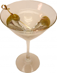Martini with Olive Glass fake drink USA