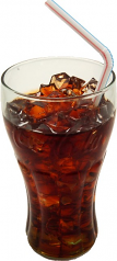 Cola Soda with Ice Glass Fake Drink USA