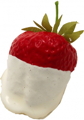 White Chocolate Dipped Strawberry fake chocolate USA