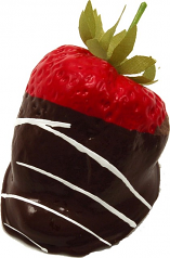 Chocolate Swirl Dipped Strawberry fake chocolate USA