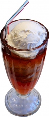 Root Beer Float Glass fake ice cream USA