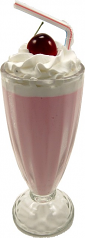 Cherry Milkshake Glass Fake Ice Cream USA