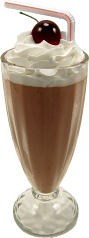 Chocolate Milkshake Glass fake ice cream USA