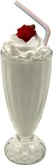 Vanilla Milkshake Glass fake ice cream USA