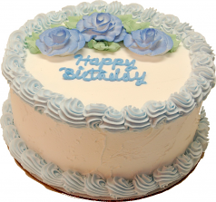 Blue Birthday fake cake 9 inch USA