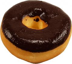 Chocolate Doughnut Soft Touch Fake Donut USA