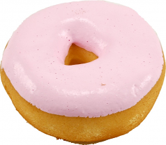 Pink fake Doughnut Soft Touch Fake Donut USA