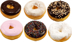 Donuts 6 pack Assorted Soft Touch Fake Doughnuts USA