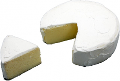 Brie with Slice fake cheese USA