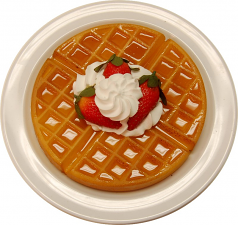 Strawberry Waffle Plate fake food USA