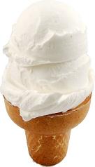 Vanilla 2 Scoop fake ice cream cone USA