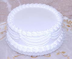 White Wedding fake Cake with Lace 12 Inch USA